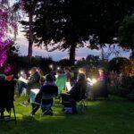 Die Klangfelder singen im Garten